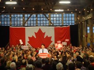 Trudeau's last pre-election rally (Mackin)